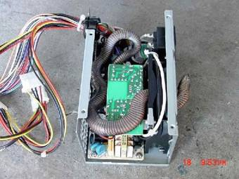 snake found in power supply of a computer