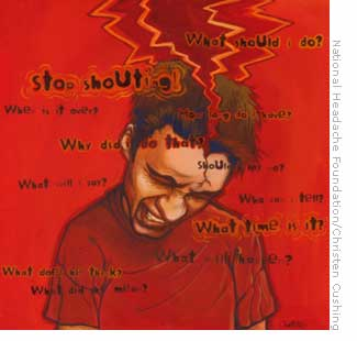 splitting red cluster headache
