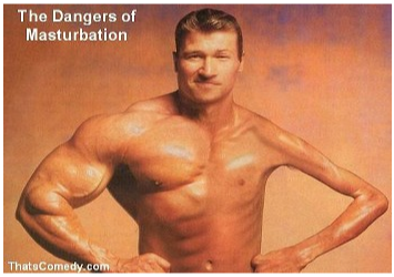 unbalanced muscle growth is caused by excessive masterbation
