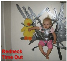 redneck timeout a ducked tapped baby