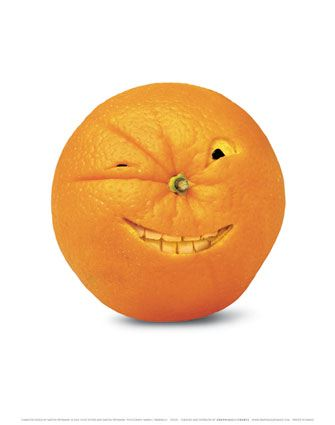 fruit orange smile vegetable art