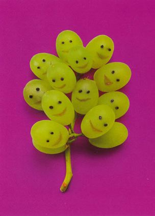 grapes people faces vegetable art
