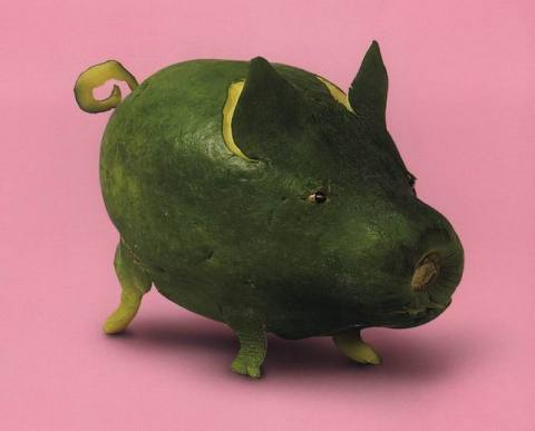 piepia pig vegan art sculptures