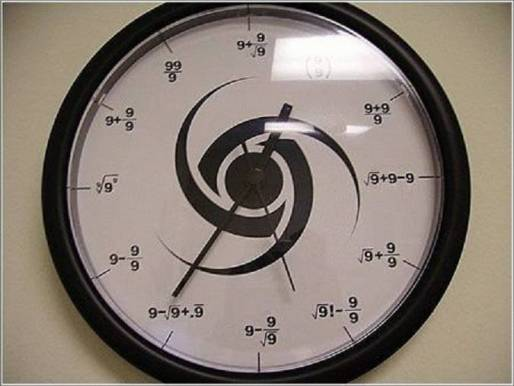a clock made of only nines 9