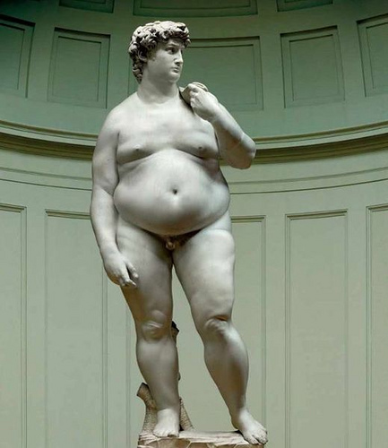 Michaelangelo's David envisioned as a modern man