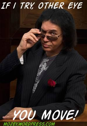 funny lol humor kiss celebrity apprentice gene simmons reality tv